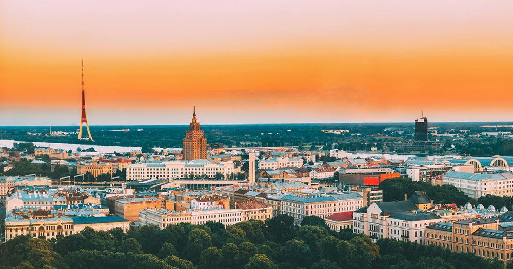 Riga - Panorama Aufnahme