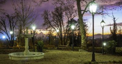Gornji Grad-Medvescak - abendlicher Park in Zagreb