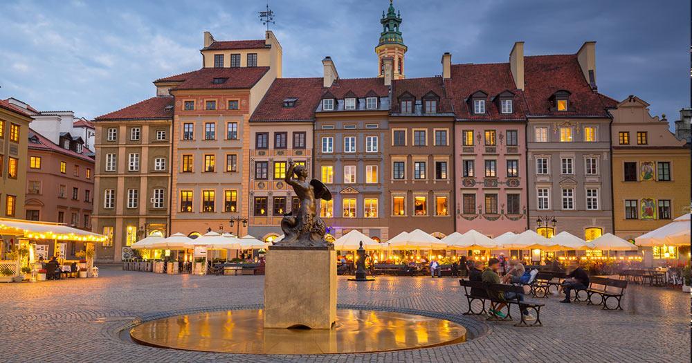 Warschau - Meerjungfrauen Statue