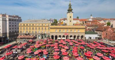 Dolac Market - Panoramaaufnahme