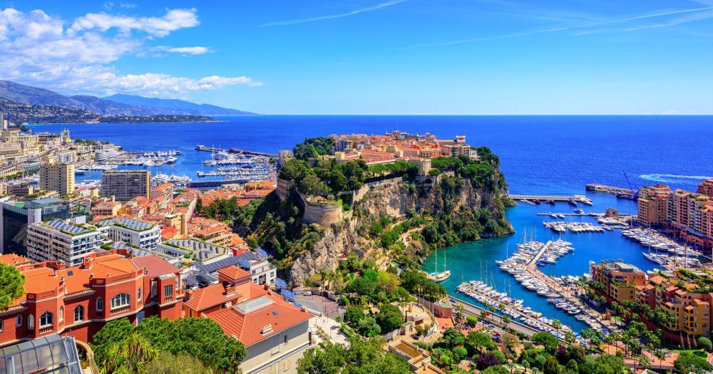 Monte-Carlo - Blick auf den Hafen von Monte-Carlo