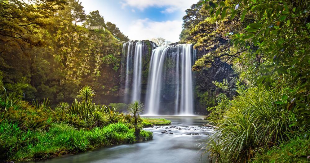 Christchurch - Blick auf den Wasserfall