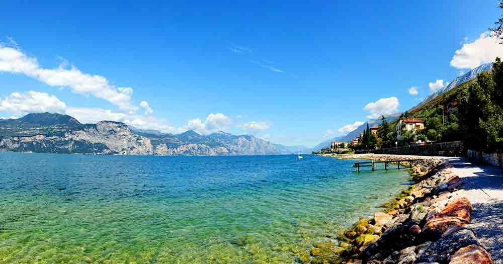 Gardasee - Blick vom Ostufer