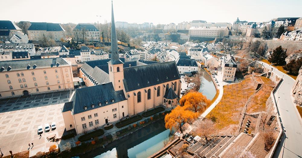 Luxemburg - Altstadt an der Alzette