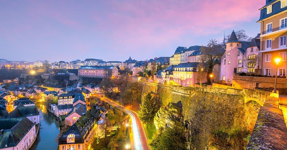 Luxemburg - abendlicher Panoramablick