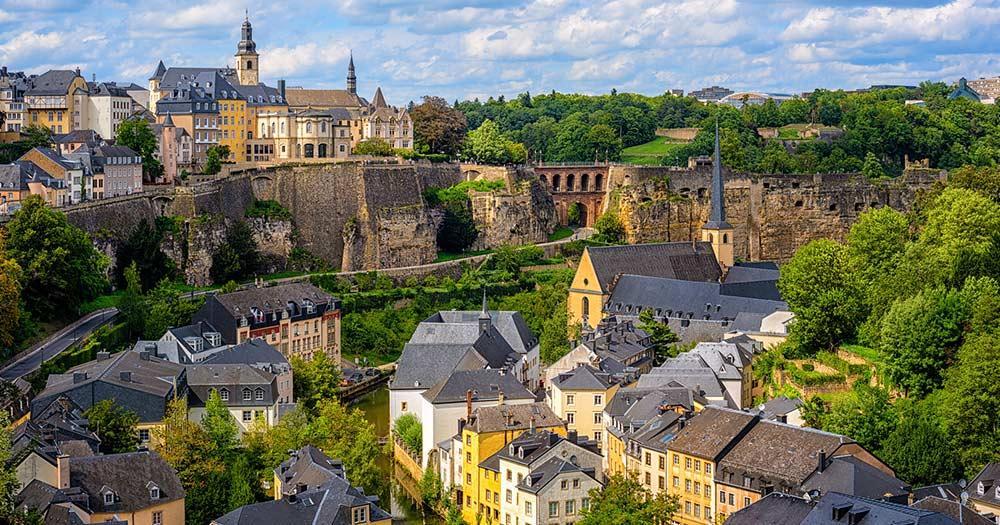 Luxemburg - Luftaufnahme