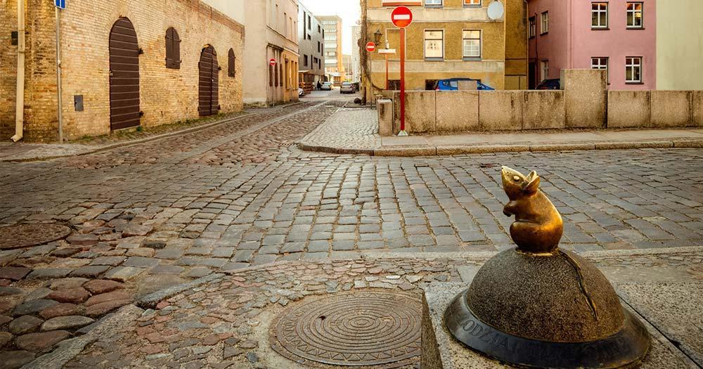 Klaipeda - Mäuse Statue