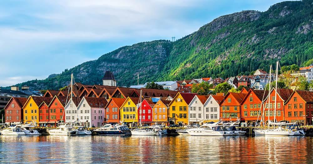 Bergen - historische Gebäude