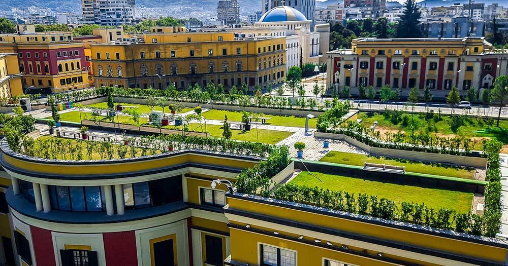 Tirana - Dachgärten