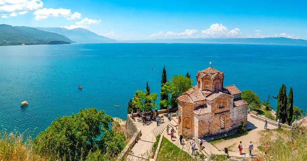Ohrid - Kirche des Heiligen Johannes von Kaneo