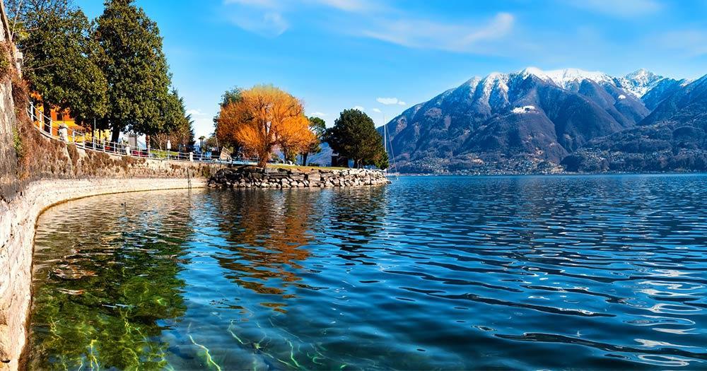 Lago Maggiore - Promenade am See