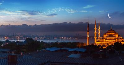 Bosporus - Hage Sophia bei Nacht