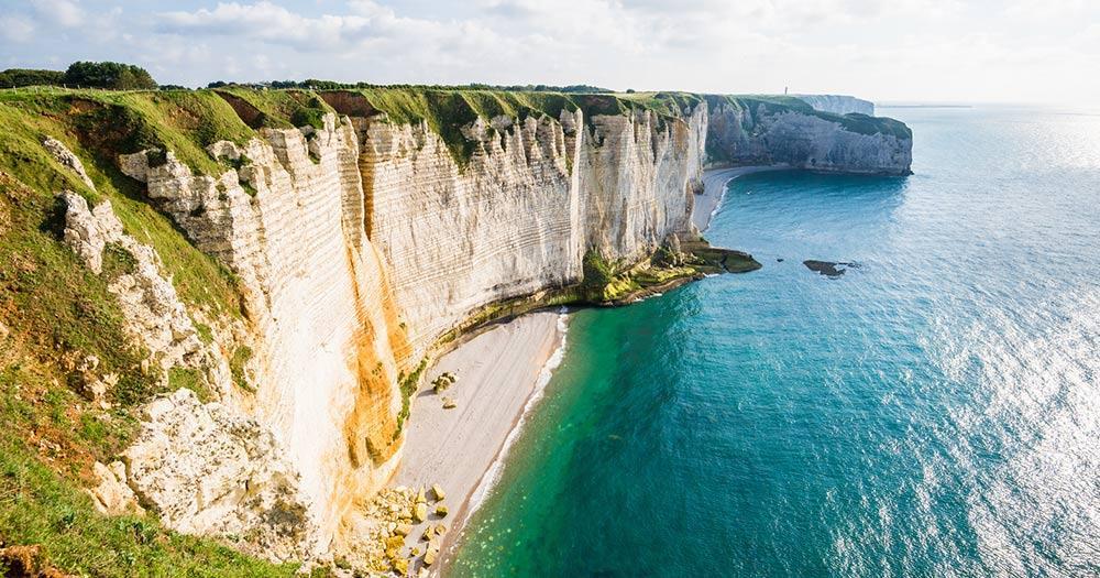 Normandie / Sicht von den Etretat white cliffs