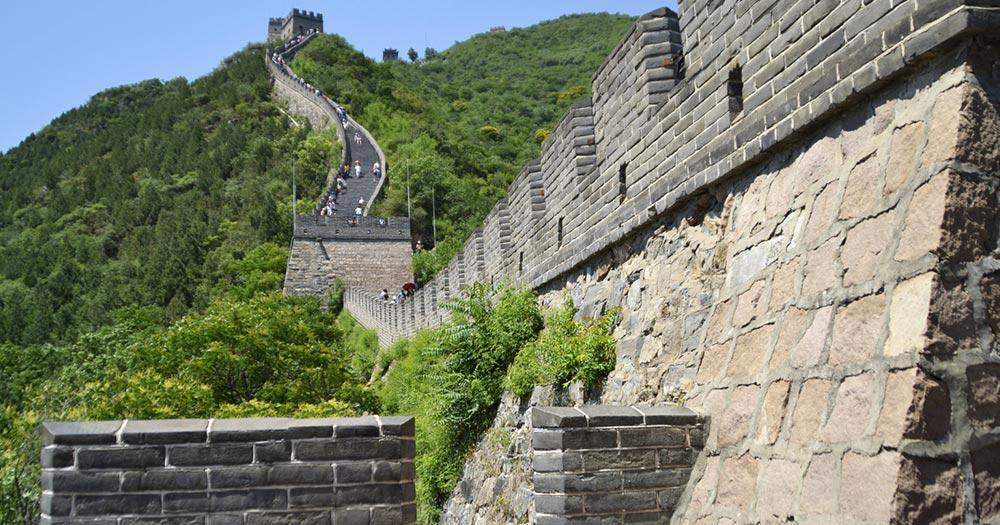Chinesische Mauer / Seitenbild der Chinesischen Mauer