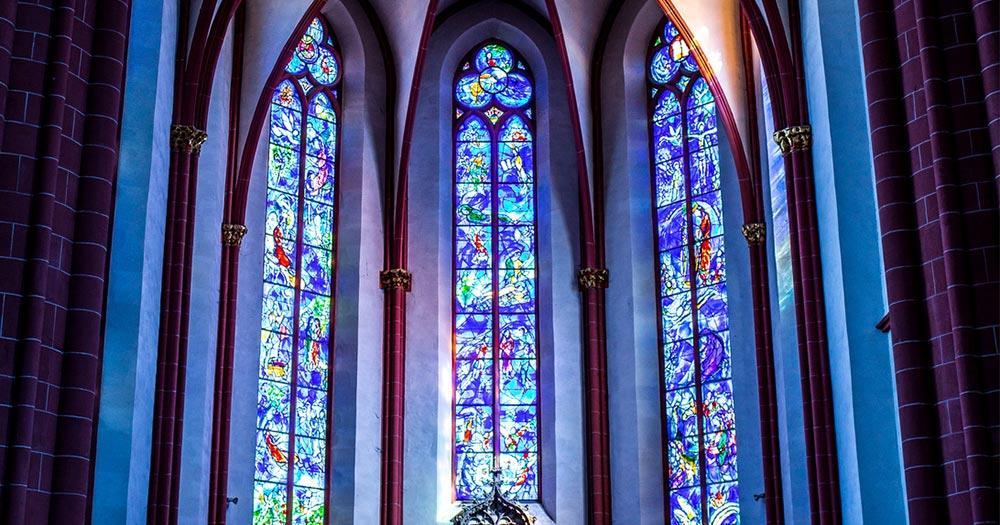 Mainz / Chagall-Fenster in der Pfarrkirche St. Stephan
