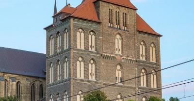 Marienkirche Rostock / Marienkirche am Abend