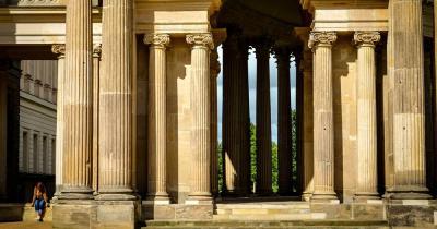 Schloss Sanssouci / Säulen des neuen Schlossteils