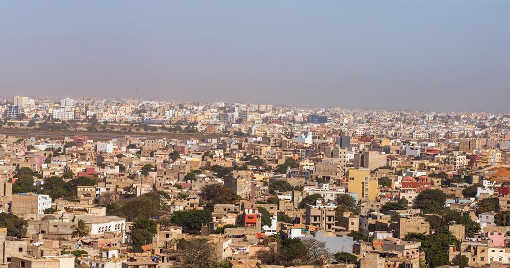 Dakar / Panoramablick über Dakar