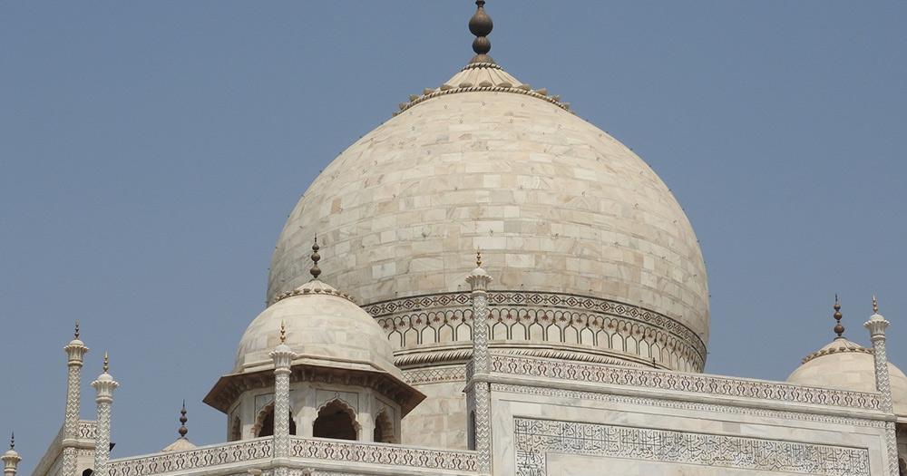 Taj Mahal / Nahaufnahme der Kuppel