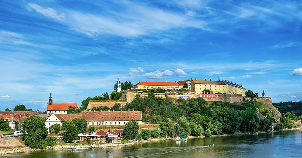 Novi Sad / die Festung Petrovaradin in Novi Sad