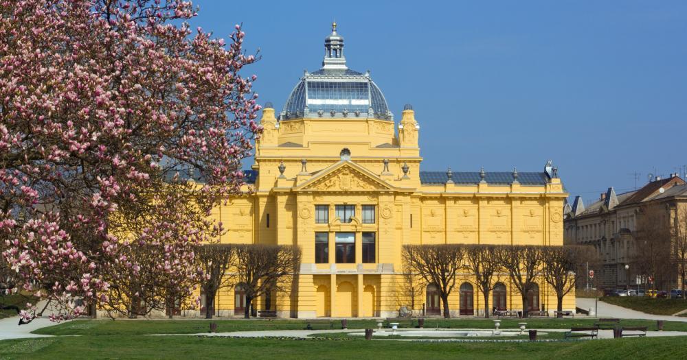Zagreb - Blick aud den Kunstpavillon