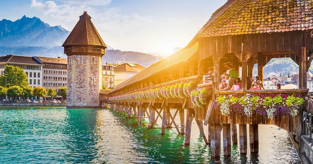 Vierwaldstättersee / die historische Stadt Luzern