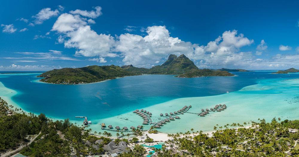 Bora Bora / Panoramablick über Bora Bora