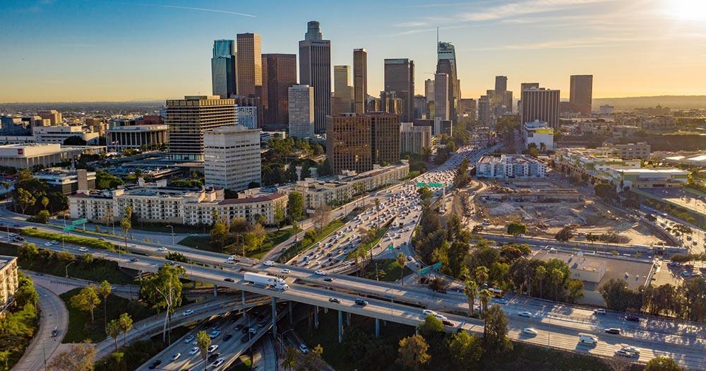 Pacific Coast Highway / Panoramablick über Los Angeles
