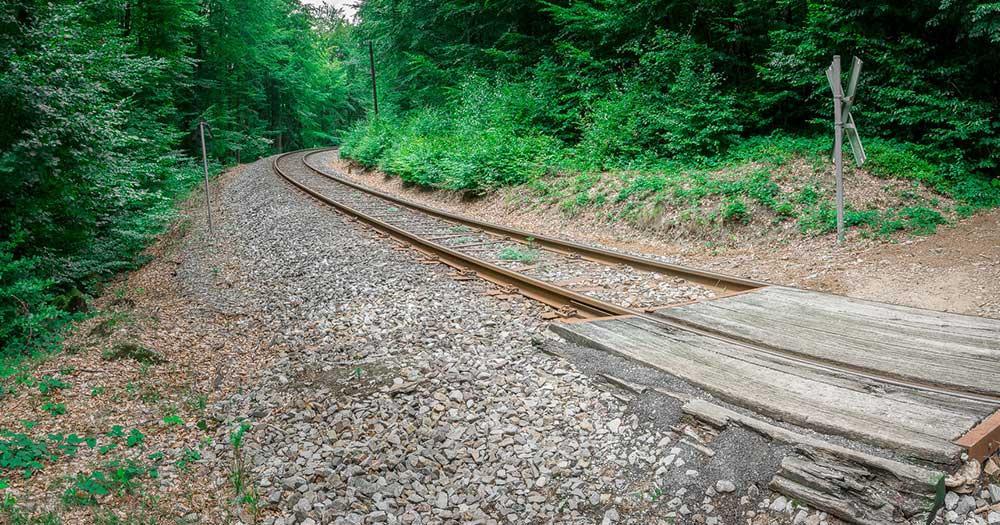 Spiegelau /  Bahnstrecke im bayerischen Wald
