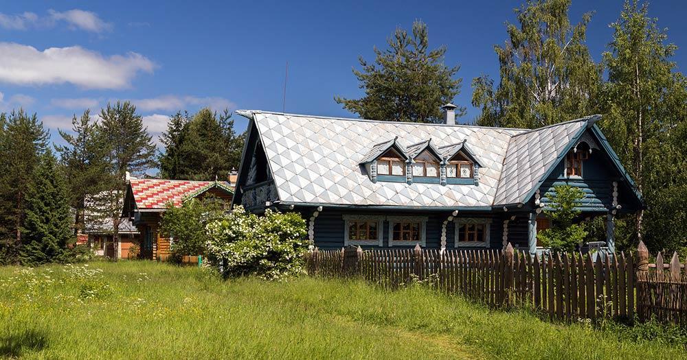 Ladogasee / das russische Dorf Mandrogi