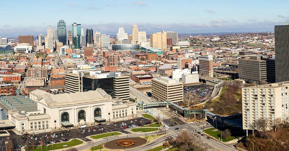 Kansas City / Panoramablick von Kansas City