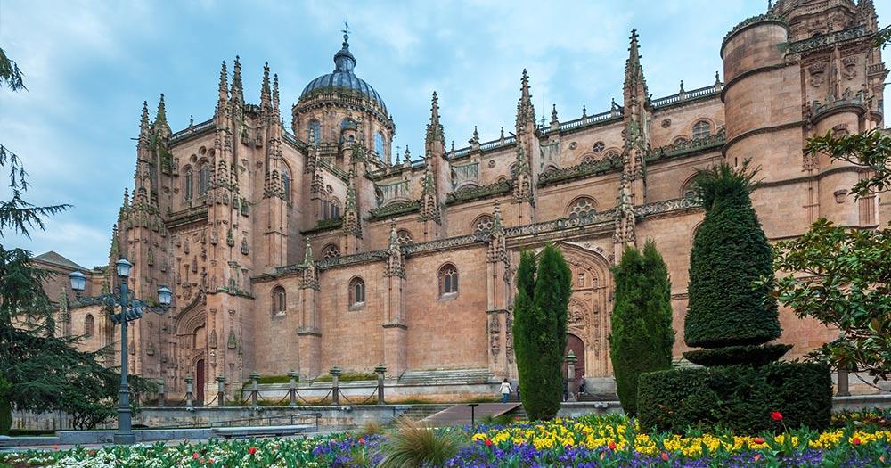 Salamanca / die neue Kathedrale in Salamanca