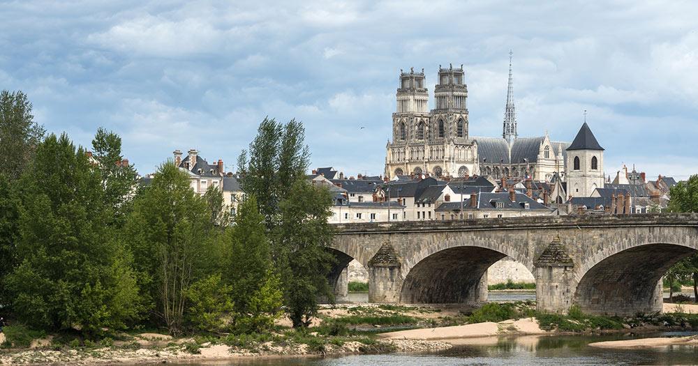 Orléans / Orleans-Blick von der Loire