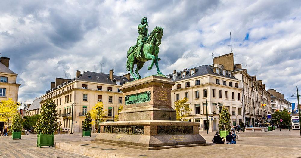 Orléans / Denkmal von Jeanne d'Arc