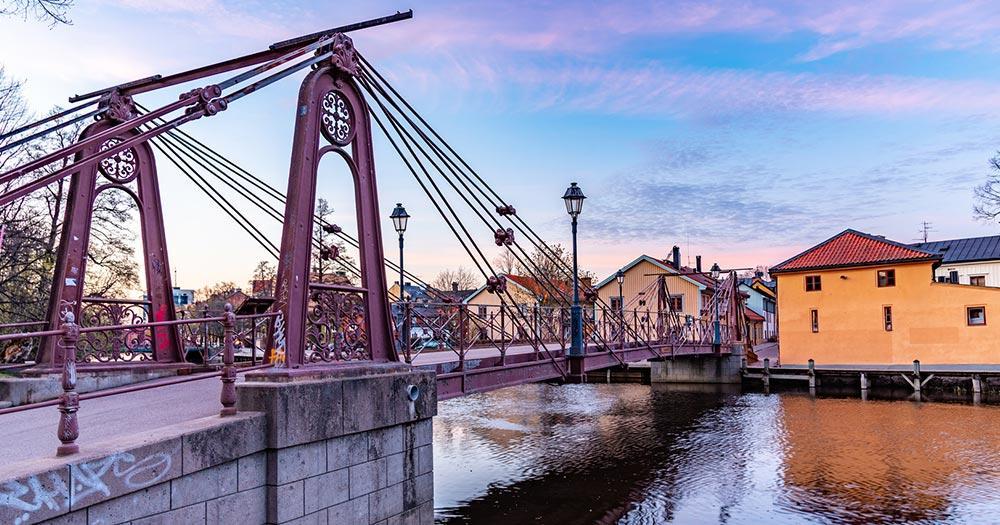Uppsala / eine Brücke in Uppsala