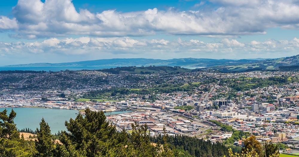 Dunedin / Panoramablick über Dunedin