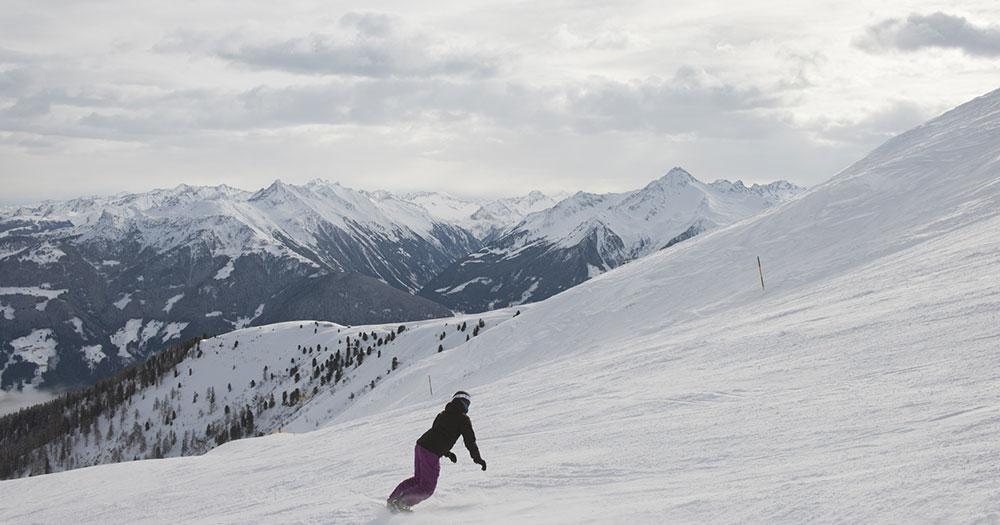 Mayrhofen - Am Snowboard über perfekte Pisten