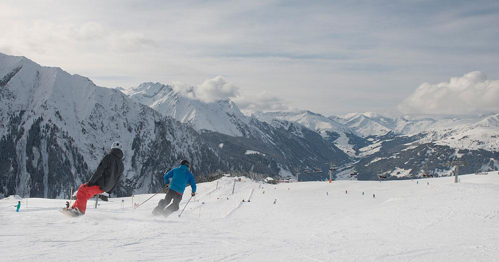Mayrhofen - Abfahrt auch perfekten Pisten