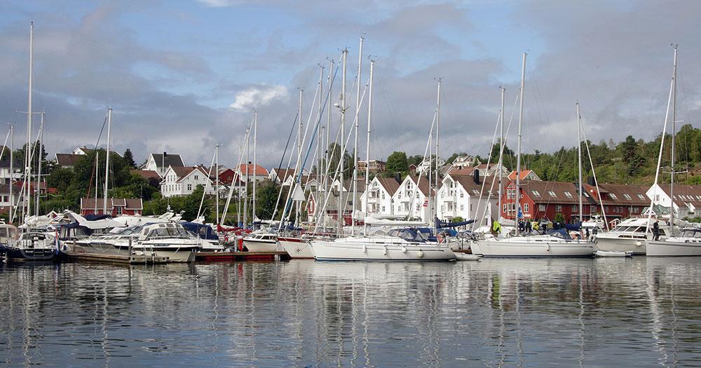 Kristiansand / der Hafen von Kristiansand