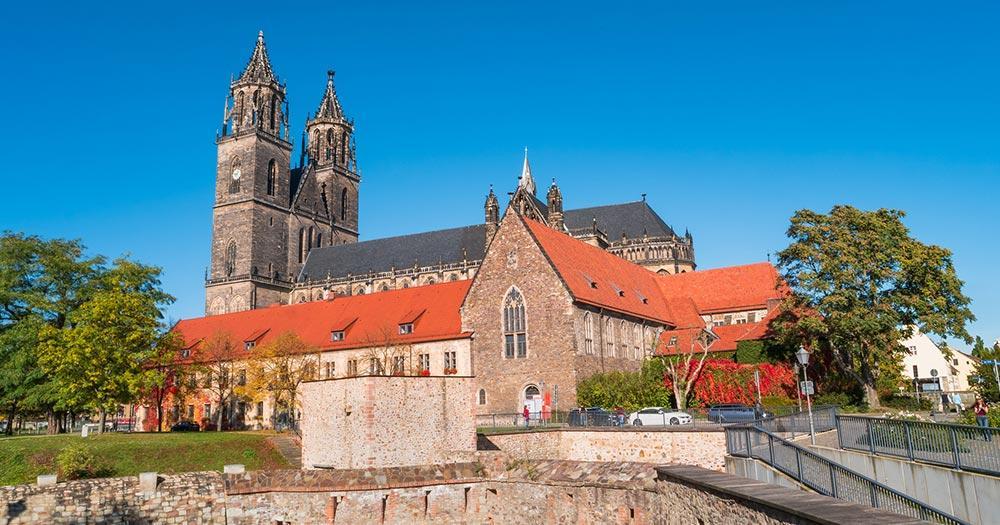 Magdeburg / die Kathedrale in Magdeburg
