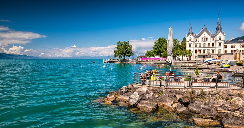 Vevey - Park in der Stadt Vevey in der Nähe von Montreux