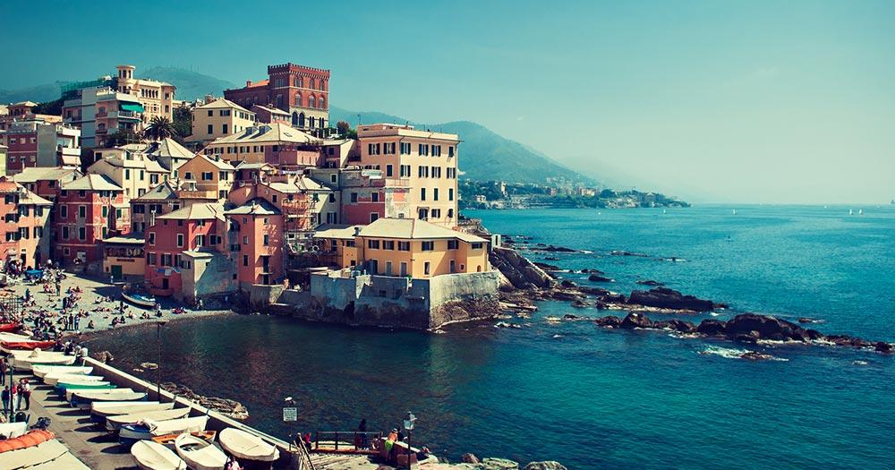 Genua - Panoramablick über Genua