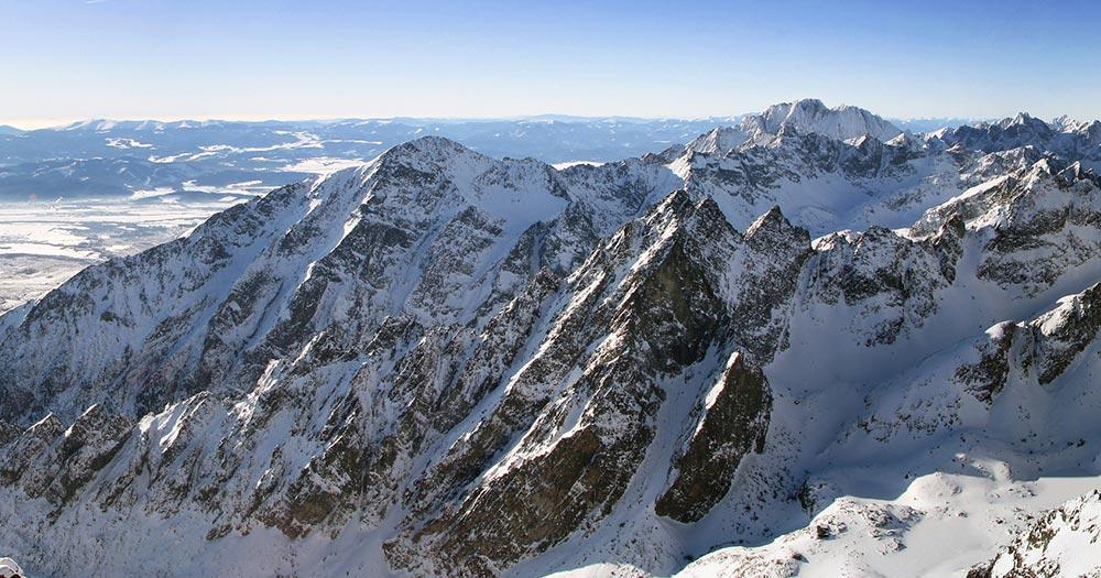 Nationalpark Hohe Tatra / Berge mit Schnee in der Slowakei