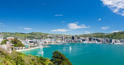 Wellington Harbour / die Sicht auf Wellington