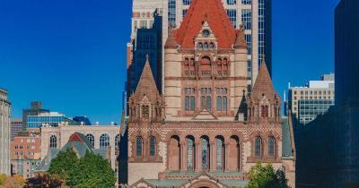 Trinity Church Boston / Nahaufnahme von der Trinity Church