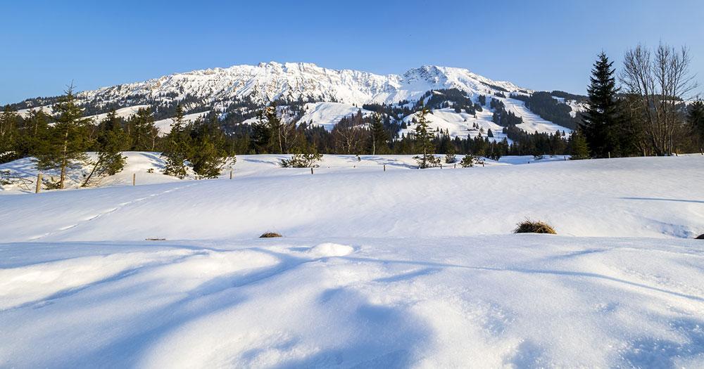 Oberjoch - Blick auf den Berg Iseler