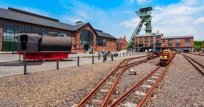 Zeche Zollern - Eisenbahnschienen im Industriemuseum in Dortmund