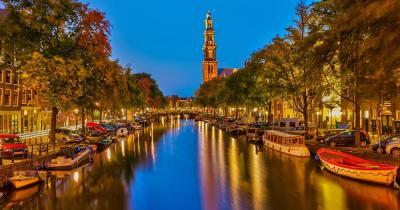 Prinsengracht / Prinsengracht bei Nacht