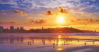 San Lorenzo Beach - Sonnenuntergang am San Lorenzo Strand