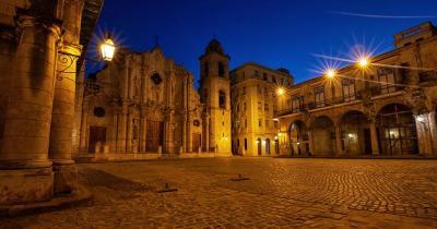 Plaza de la Catedral - Plaza de la Catedral in der Nacht